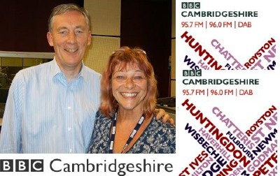 Chris Flegg & Sue Marchant at BBC Cambridge